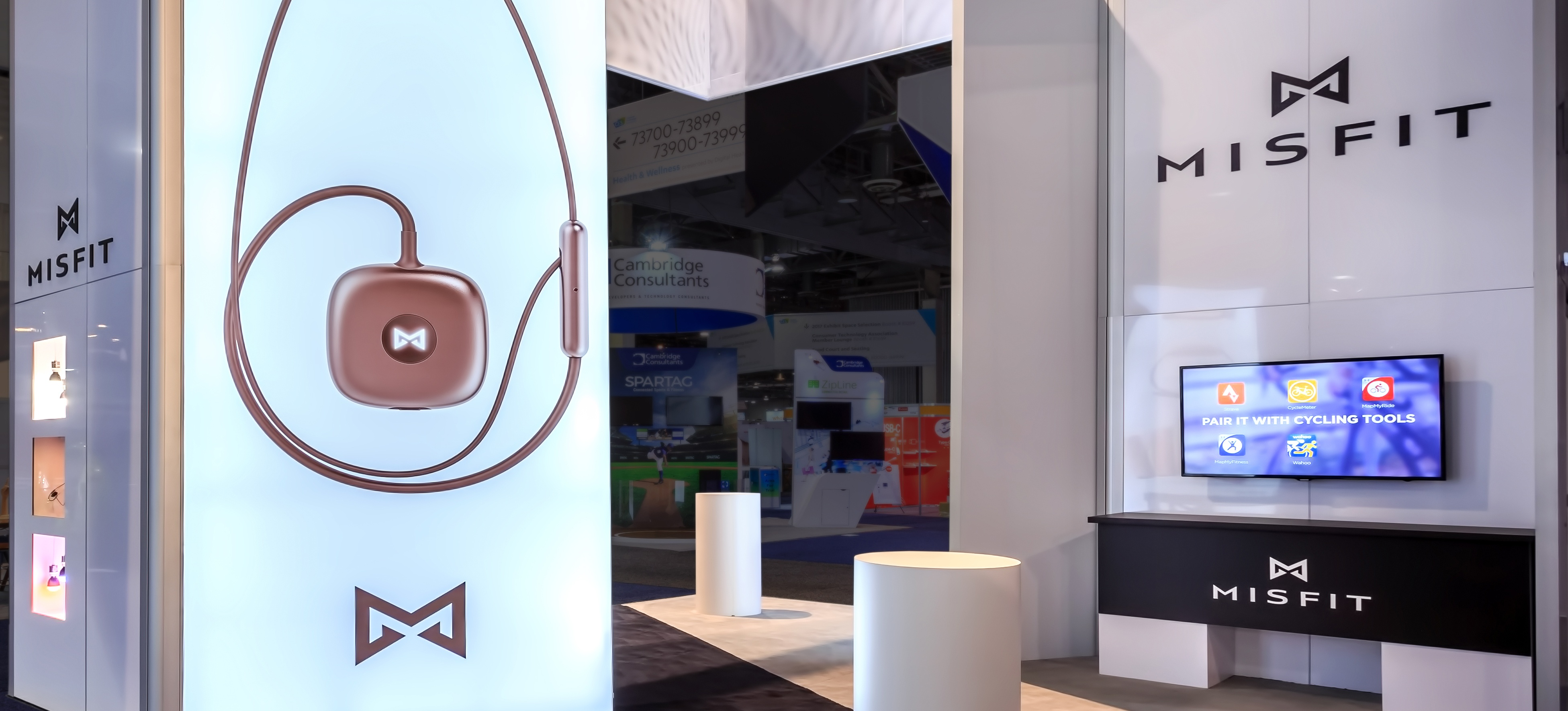 Hill & Partners Rental Branded Environment for Misfit CES