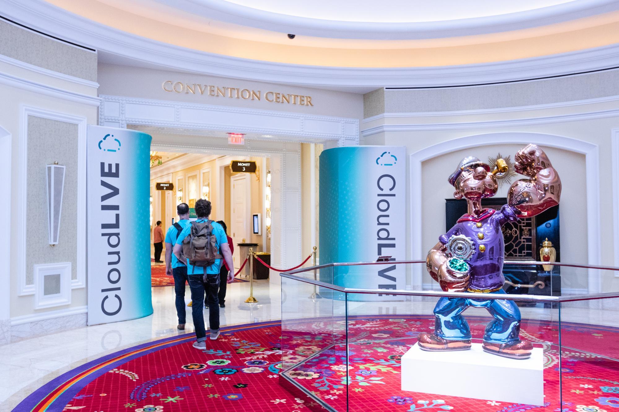 CloudLIVE event entrance