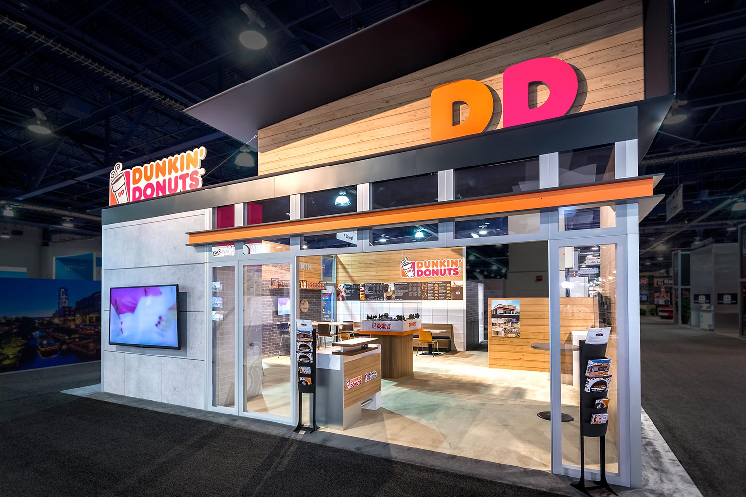 Dunkin' Donuts trade show exhibit