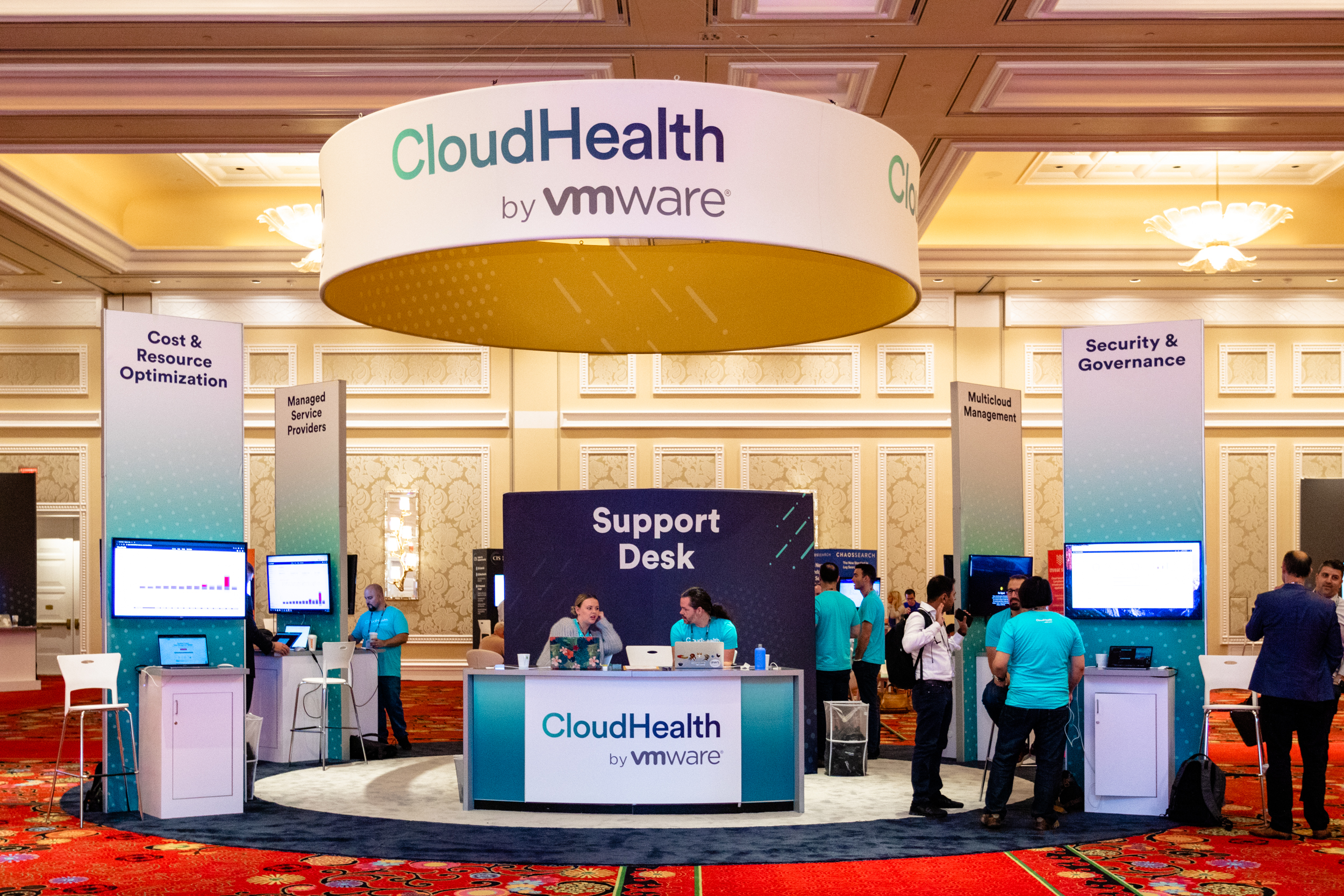 Helpful staff at CloudHealth's trade show booth